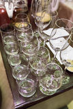 Glass champagnestemware Royaltyfri Fotografi