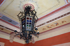 Glass chandelier Stock Photo