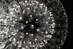 Glass chandelier of spherical form Stock Images