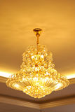 Glass chandeliers Stock Photos
