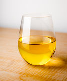 Glass of Chardonnay Royalty Free Stock Photography