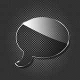 Glass Chat Symbol On Metallic Background Royalty Free Stock Photography