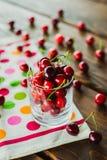 Glass of cherries Royalty Free Stock Photo