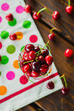 Glass of cherries Stock Photography