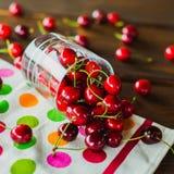 Glass of cherries Stock Image