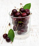 Glass with cherries Royalty Free Stock Photo