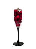 Glass with cherry Stock Image