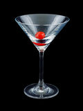 Glass with cherry Stock Photos