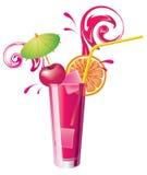 Glass of cherry juice Stock Image