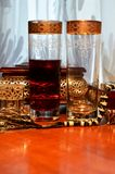 Glass with cherry juice Royalty Free Stock Photography