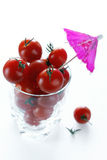GLASS OF CHERRY TOMATOES Royalty Free Stock Photo