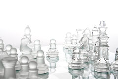 Glass chess Stock Photo