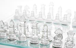Glass chess Stock Image