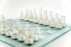 Glass chess Stock Photos