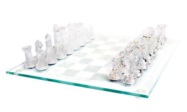 Glass chess Stock Image