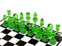 Glass chess Royalty Free Stock Images