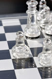 Glass chess 2 Stock Images