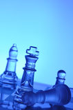 Glass chess Royalty Free Stock Image
