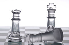 Glass chess Royalty Free Stock Photo