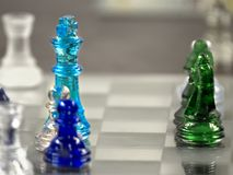 Glass Chess Blur Royalty Free Stock Image
