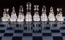 Glass Chess board Royalty Free Stock Photography