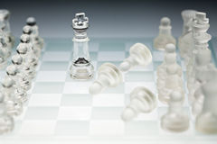 Glass chess board Royalty Free Stock Images
