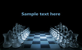 Glass chess board - your text here Royalty Free Stock Photo