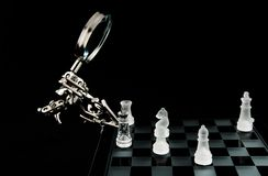 Glass chess - checkmate Stock Photography