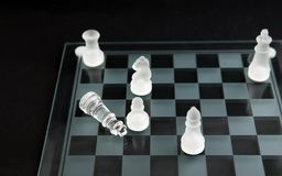 Glass chess - checkmate Royalty Free Stock Image