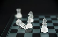 Glass chess - checkmate Royalty Free Stock Images