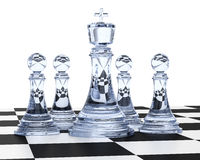 Glass chess Royalty Free Stock Photos