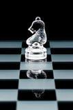 Glass chess knight Stock Image