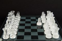 Glass chess - let's play Royalty Free Stock Images
