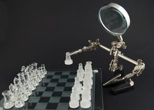 Glass chess - let's play Stock Photography