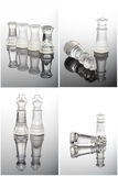 Glass chess photographed up close Stock Images