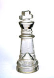 Glass chess pieces Royalty Free Stock Photos