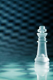 Glass chess queen Royalty Free Stock Images