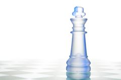 Glass chess queen Royalty Free Stock Image