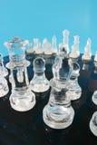 Glass chess set Royalty Free Stock Photos
