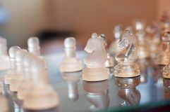 Glass Chess Set Stock Image