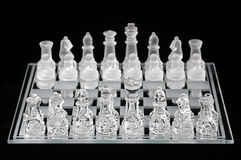 Glass Chess Set Royalty Free Stock Images