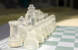 Glass Chess Stock Images