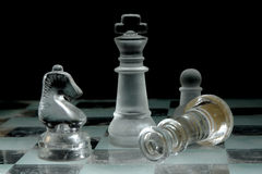 Glass Chessboard royalty free stock photography