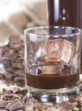 Glass with Chocolate Liqueur Stock Images