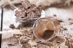 Glass with Chocolate Liqueur Stock Photos