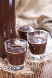 Glass with Chocolate Liqueur Stock Photos