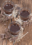 Glass with Chocolate Liqueur Stock Image