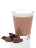Glass of chocolate milk Royalty Free Stock Photography