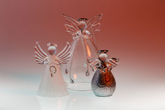 Glass Christmas Angels Stock Image