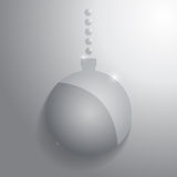 Glass christmas ball. Glossy sphere. Vector illustration Stock Photography